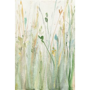 'Spring Grasses II' Painting Print on Canvas by East Urban Home