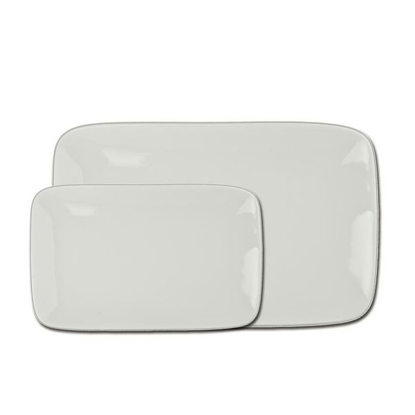 Asian 2 Piece Rectangular Plate Set by BIA Cordon Bleu