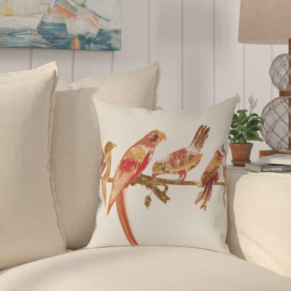 Shadybrook Morning Birds Animal Throw Pillow by Bay Isle Home