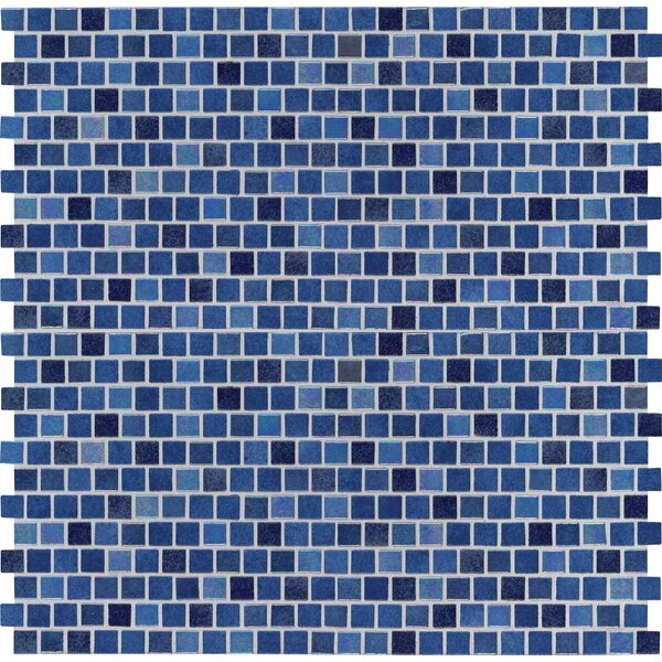 Hawaiian 0.5 x 0.5 Glass Mosaic Tile in Blue by MSI