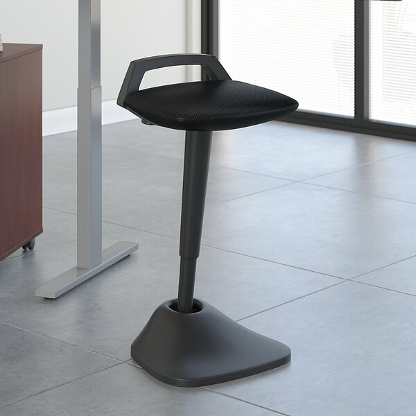 Groovy Thrive Standing Black Active Stool By Bush Business Furniture Ncnpc Chair Design For Home Ncnpcorg