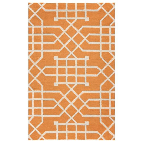 Angela Hand-Tufted Orange Indoor/Outdoor Area Rug by Mercer41