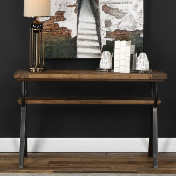 Renee Industrial Console Table By Gracie Oaks