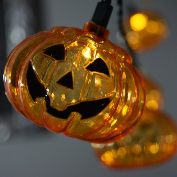 10 LED Jack O Lantern Pumpkin Halloween String Light by The Paper Lantern Store