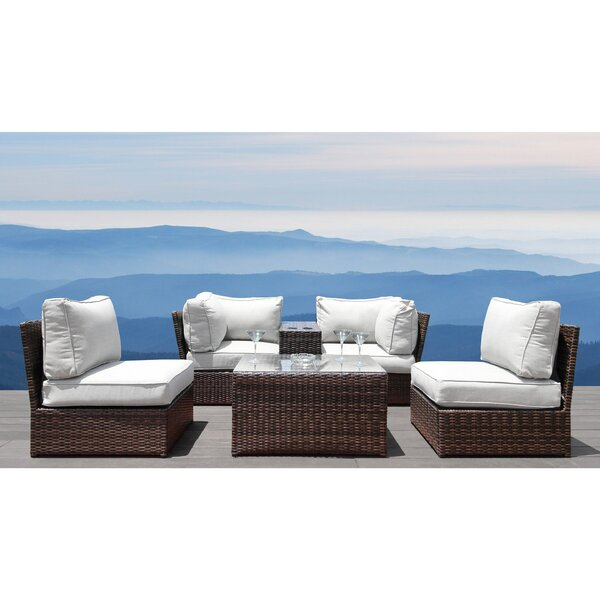 Vasil 6 Piece Sectional Seating Group with Cushions by Orren Ellis