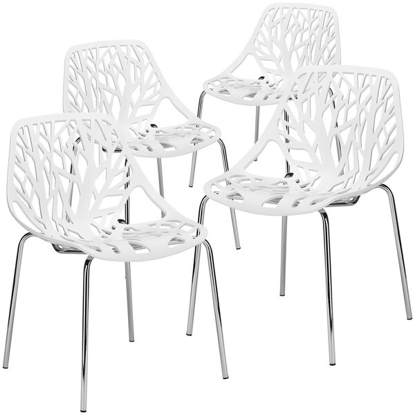 New Design Radcliffe Stacking Patio Dining Chair (Set Of 4) By Orren Ellis 2019 Online