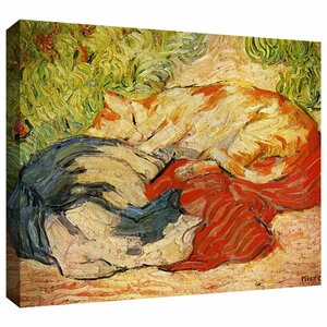 'Cats' by Franz Marc Painting Print on Wrapped Canvas by ArtWall