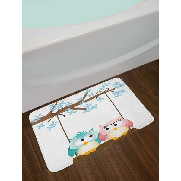 Two Owls Nursery Bath Rug by East Urban Home