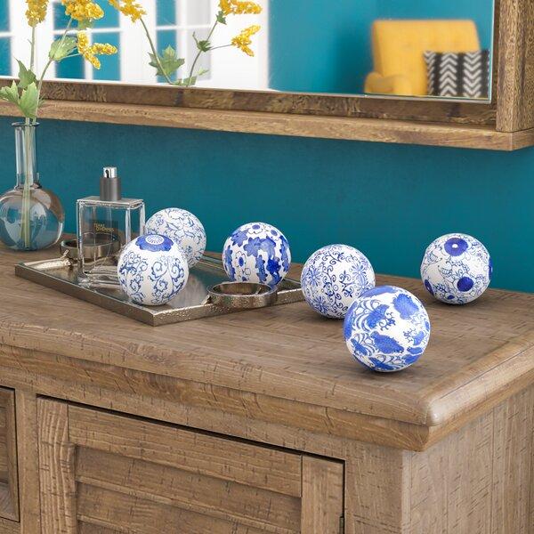 Skeens Floral Design Decorative Balls (Set of 6) by World Menagerie