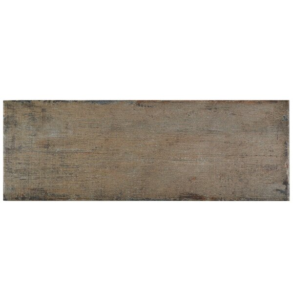 Rama 8.25 x 23.5 Porcelain Wood Look/Field Tile in Brown by EliteTile