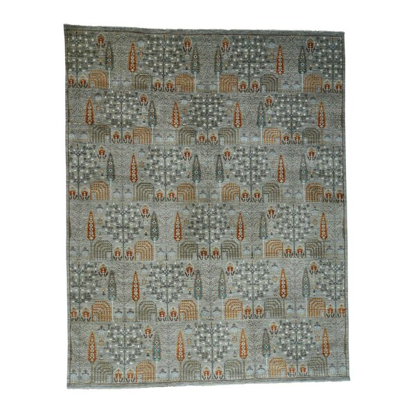 One-of-a-Kind Bagby Hand-Knotted 2010s Gray 12' x 15'2 Wool Area Rug