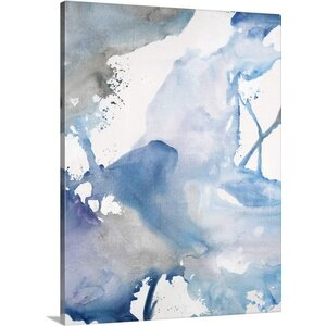 'Blue Harmony' by Rikki Drotar Watercolor Painting on Canvas by Great Big Canvas