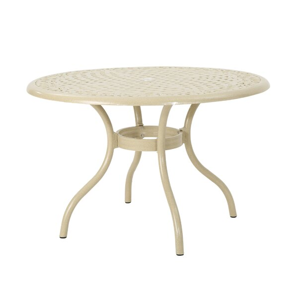 Fason Aluminum Dining Table by Ophelia & Co.