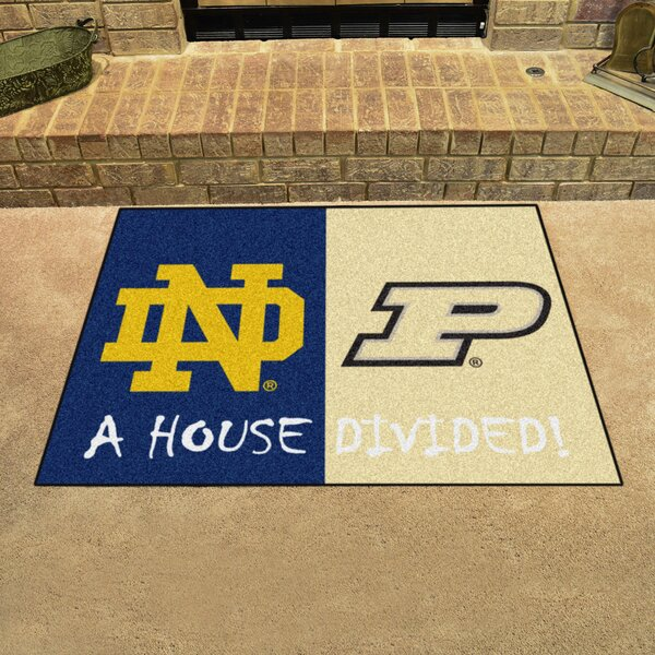 House Divided - Notre Dame / Purdue Doormat by FANMATS