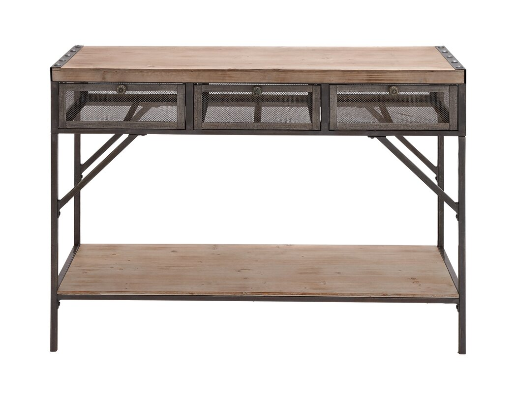 Wood metal console table reviews joss main for Wood and metal console table