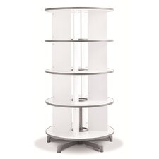 One Turn Binder and File Carousel 62 H Four Tier Shelving by Moll