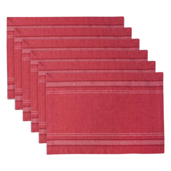 Hawley French Stripe Kitchen 19 Placemat (Set of 6) by Breakwater Bay