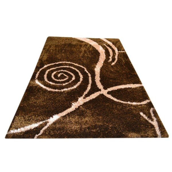 Wilsonville Shag Contemporary Hand-Tufted Brown/Beige Area Rug by Latitude Run