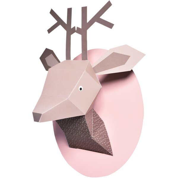 Menagerie Zoe the Deer Paper Bust Wall Decor by Nursery works