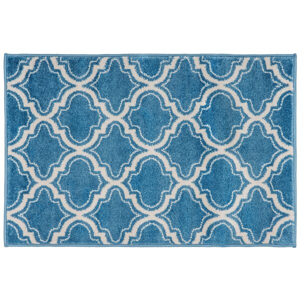 Strothers Design Blue Area Rug by Charlton Home