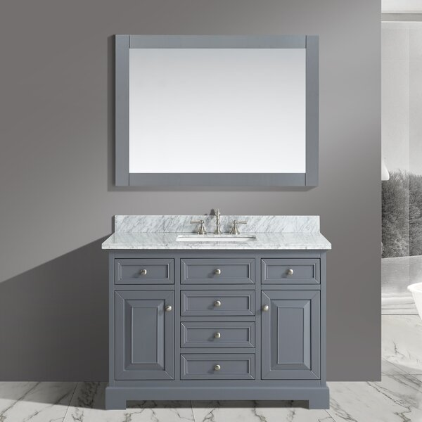 Cathey 48 Single Bathroom Vanity Set with Mirror by Charlton Home
