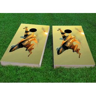 Jet Underside Cornhole Game (Set of 2) by Custom Cornhole Boards
