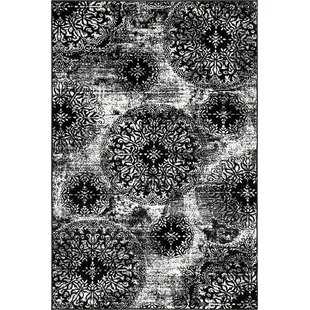 Inexpensive Brandt Black/White Area Rug By Mistana