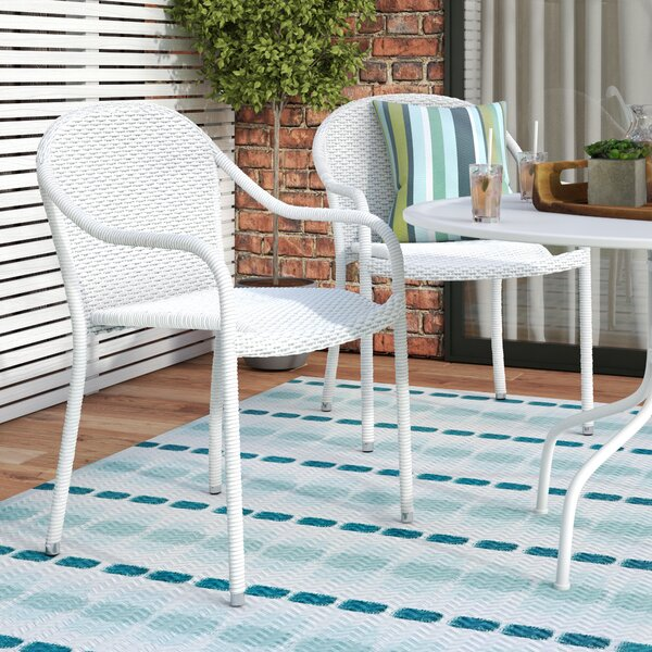 Belton Stacking Patio Dining Chair (Set of 2) by Mercury Row