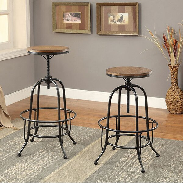 Weber Adjustable Height Backless Bar Stool (Set of 2) by Gracie Oaks