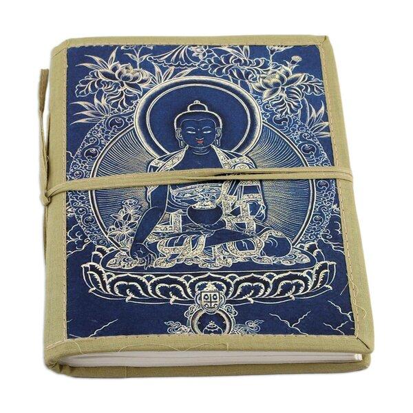 Buddha Cotton Bound Journal India Scrapbook by World Menagerie
