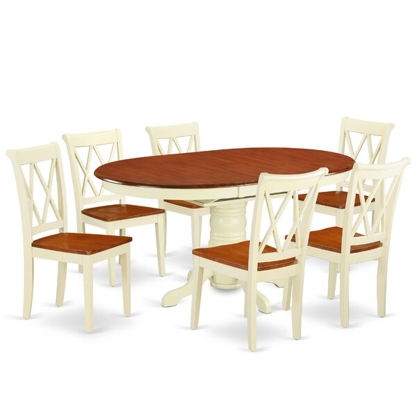Korman 7 Piece Extendable Solid Wood Dining Set by August Grove