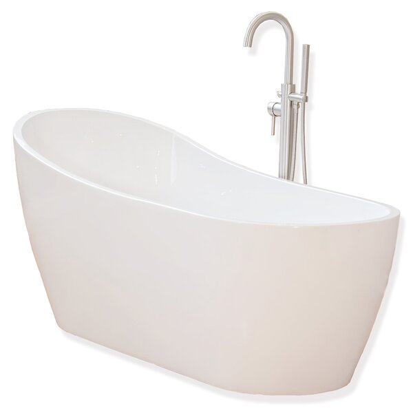67 x 29 Freestanding Soaking Bathtub by WoodBridge