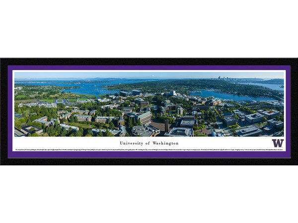 NCAA Washington, University of - Aerial by Christopher Gjevre Framed Photographic Print by Blakeway Worldwide Panoramas, Inc
