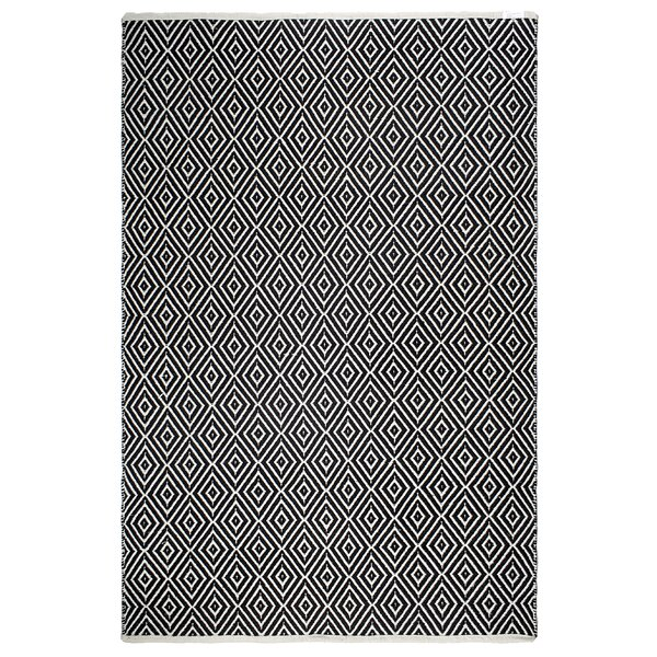 Markowski Hand-Woven Black/White Indoor/Outdoor Area Rug by Gracie Oaks