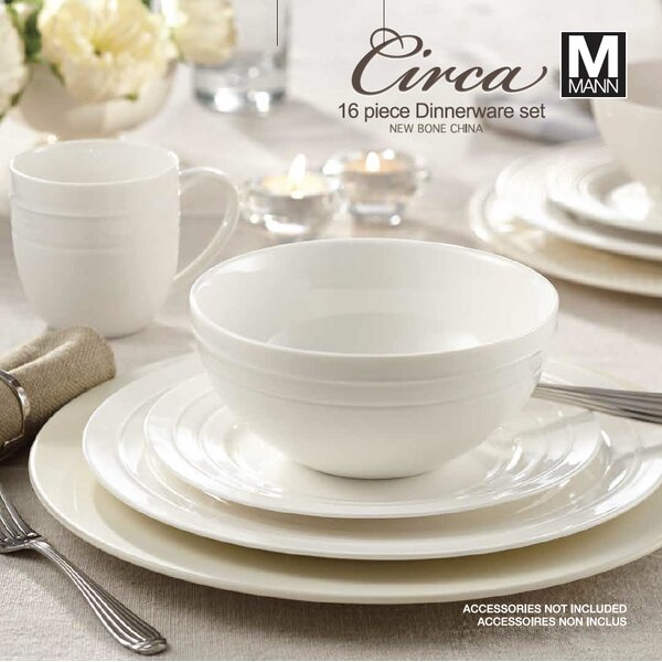 Rim Circa 16 Piece Dinnerware Set, Service for 4 by Safdie & Co. Inc.