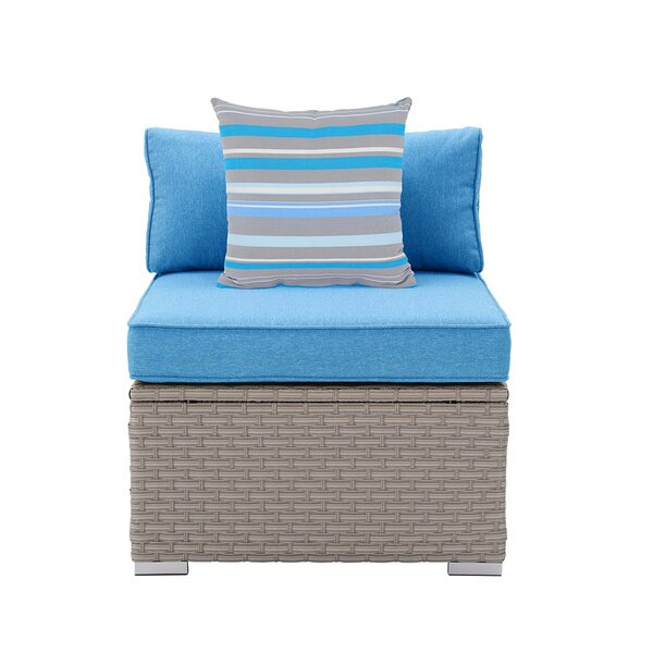 Luis Outdoor Furniture Armless Patio Chair with Cushions by Rosecliff Heights