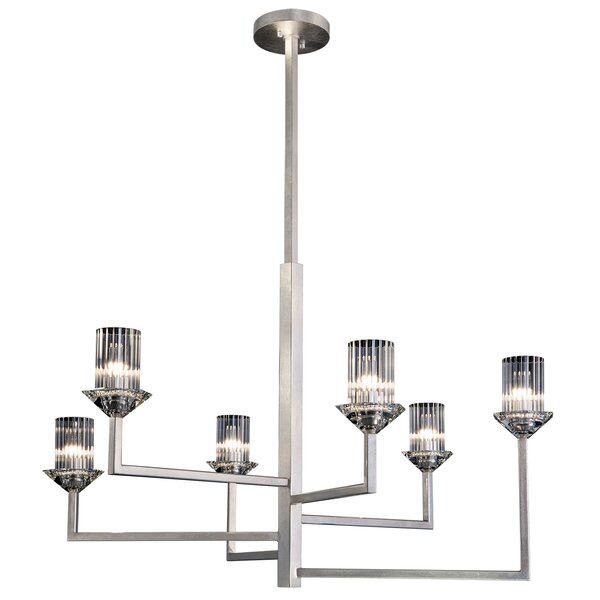 Neuilly 6-Light Shaded Tiered Chandelier by Fine Art Lamps Fine Art Lamps