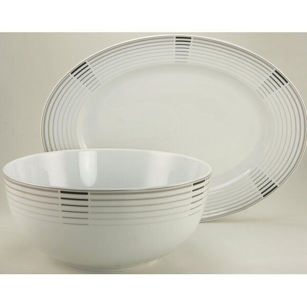 Osorio European 2 Piece Platter and Serving Bowl Set by Ebern Designs