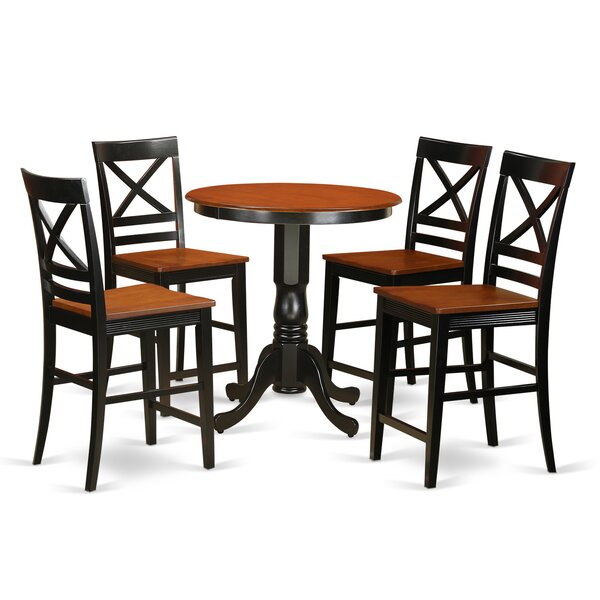 #1 Eden 5 Piece Counter Height Pub Table Set By East West Furniture Coupon