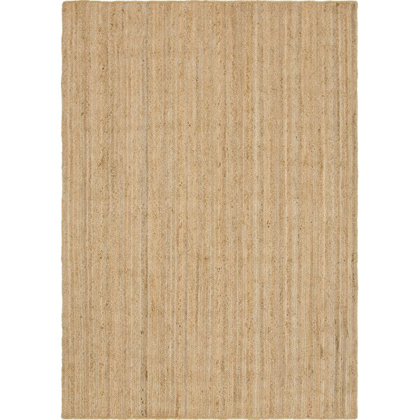Groat Hand-Braided Natural Area Rug by Highland Dunes
