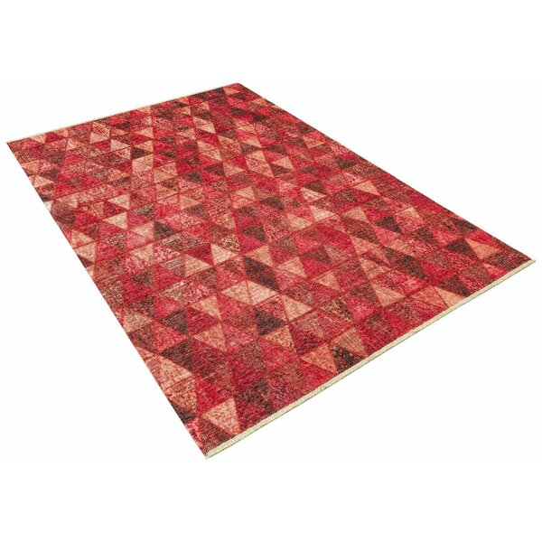 Linwood Geometric Red Area Rug