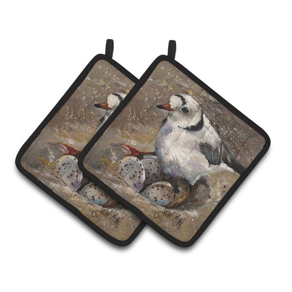 Piping Plover Potholder (Set of 2) by Caroline's Treasures