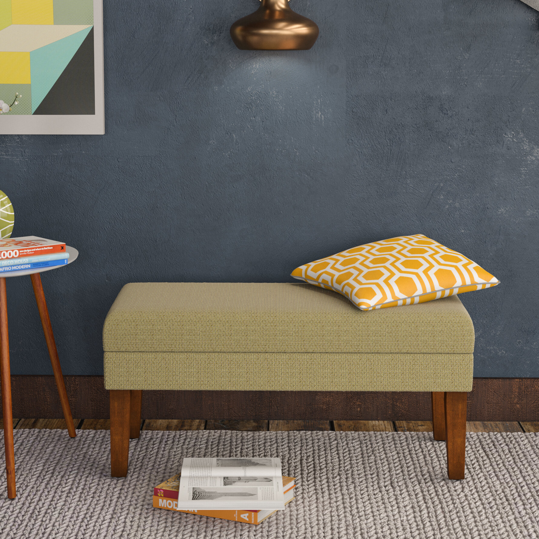 Charming Langley Street Barrington Decorative Upholstered Bench U0026 Reviews   Wayfair