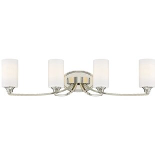 Compare prices Edgebrooke 4-Light Vanity Light By Latitude Run