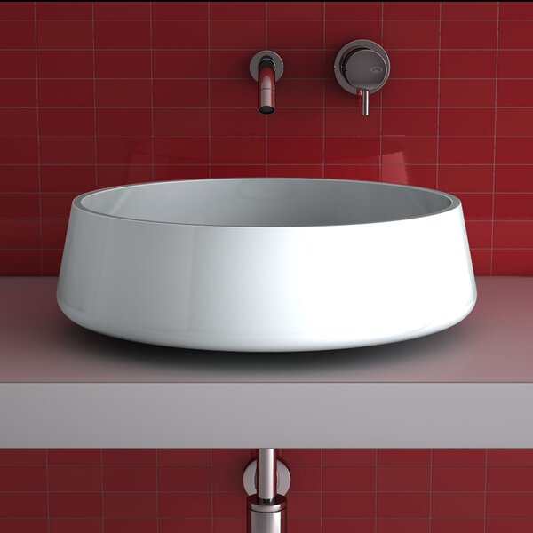Exte Metal Circular Vessel Bathroom Sink by Maestro Bath