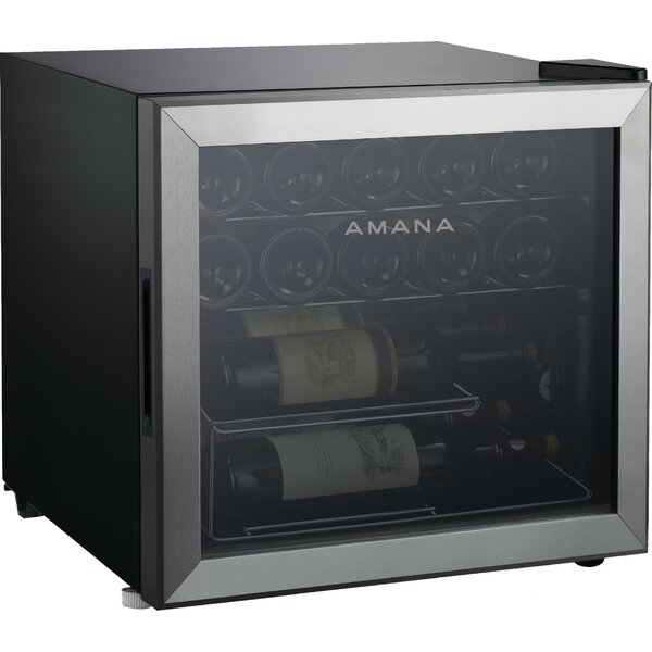 16 Bottle Single Zone Freestanding Wine Cooler By Amana