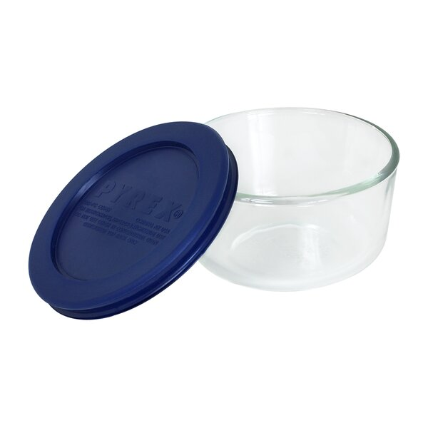 Storage 1-Cup Round Dish with Cover by Pyrex