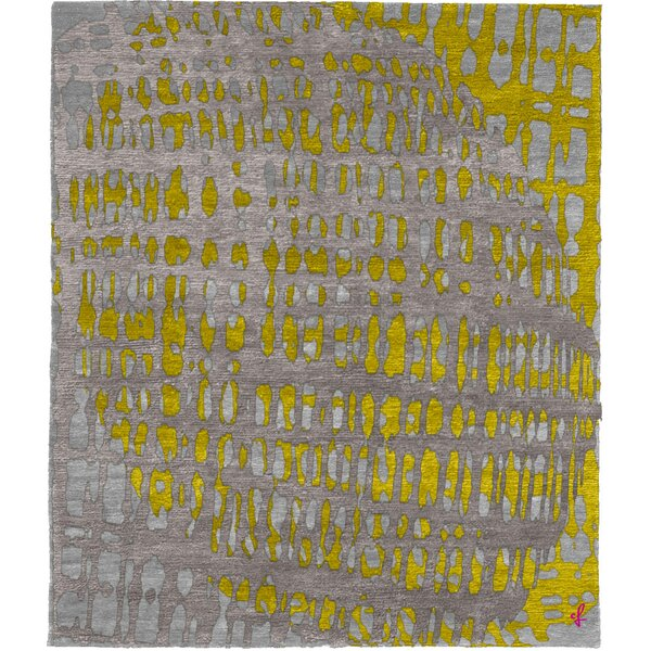 One-of-a-Kind Hardwick Hand-Knotted Traditional Style Yellow 12' x 18' Wool Area Rug