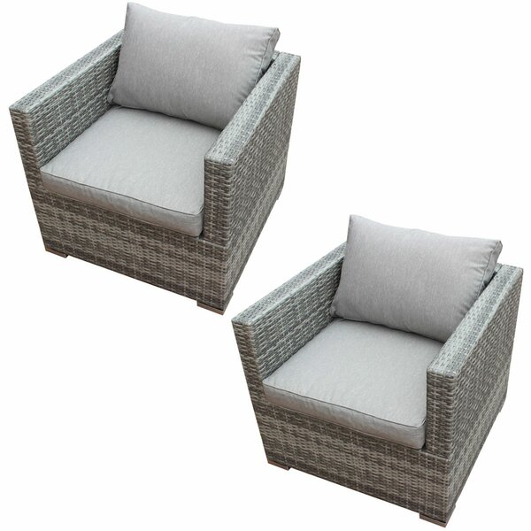 Kurtis Patio Chair with Cushion (Set of 2) by Orren Ellis