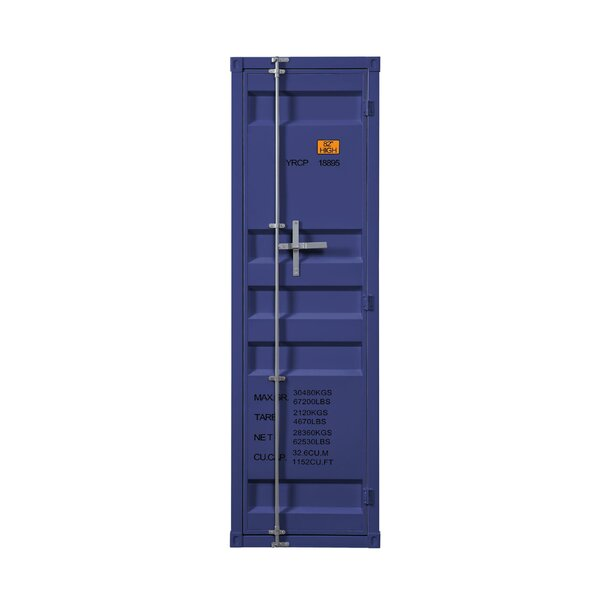 Saphira Industrial Metal Wardrobe Armoire by Breakwater Bay